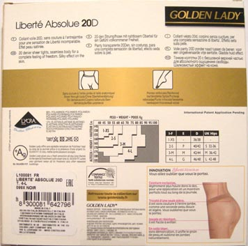 collant bas Golden Lady liberté absolue beauty 8300081642796