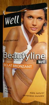 collant bas well Beautyline eclat bronzant