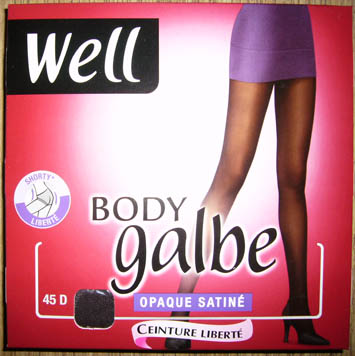 collant bas well body galbe opaque satiné